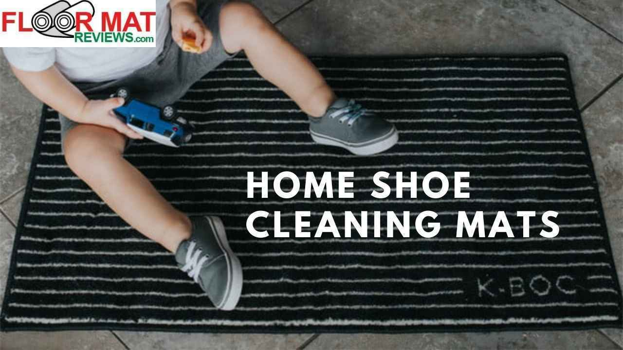 Home shoe cleaning mats